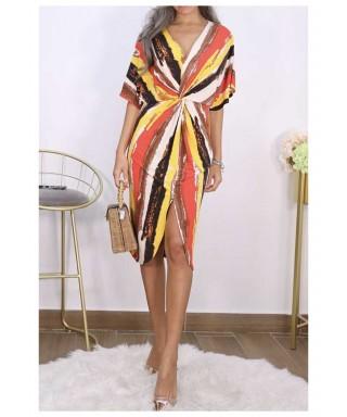 Robe multi-color courte Robe