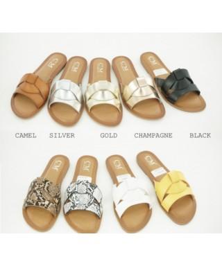 chaussure plate semelle cuir Sandale
