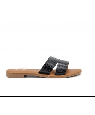 Chaussure plate avec semelle cuir Sandale