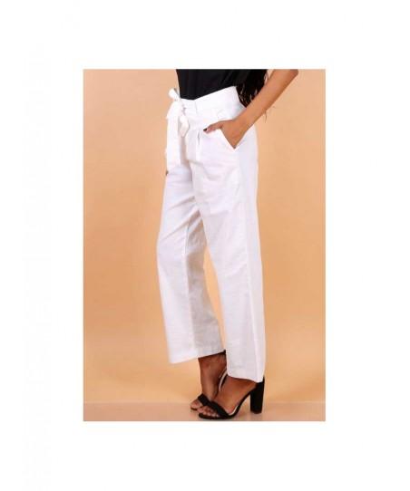 PANTALON MONICA en lin Pantalon