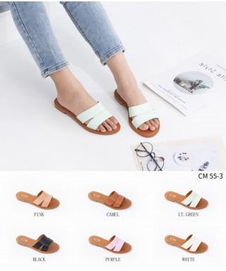 Chaussure Plate avec semelle en cuir Sandale