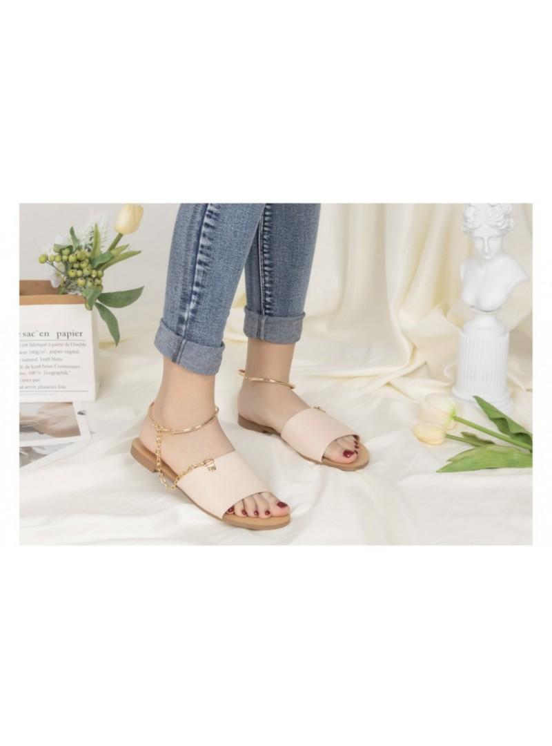 Chaussure plate avec semelle cuir et chainette Chaussures