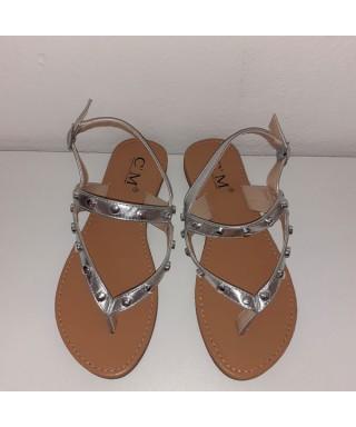 sandale avec semelle en cuire Sandale