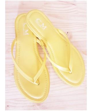 Tong semelle cuir Chaussures