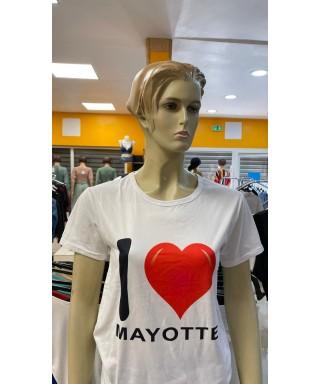 Tee-shirt love Mayotte Haut