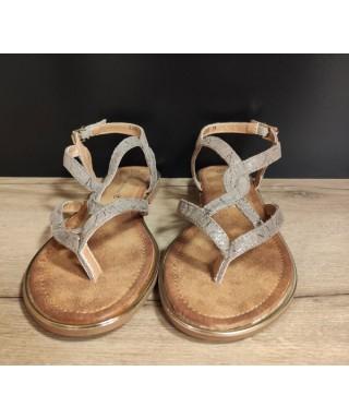 TAUPE SANDALE FEMME Sandale