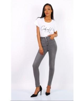 SLIM jeans avec boutons Pantalon